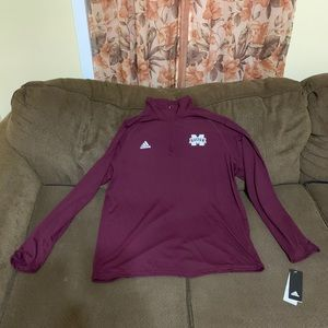 Adidas Mississippi State,1/4 Zip Up, Mens XL (New)